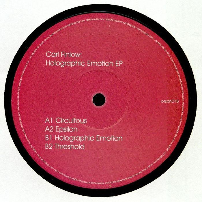 "( ORSON 015 ) Carl FINLOW - Holographic Emotion EP (140 gram vinyl 12"") Orson"