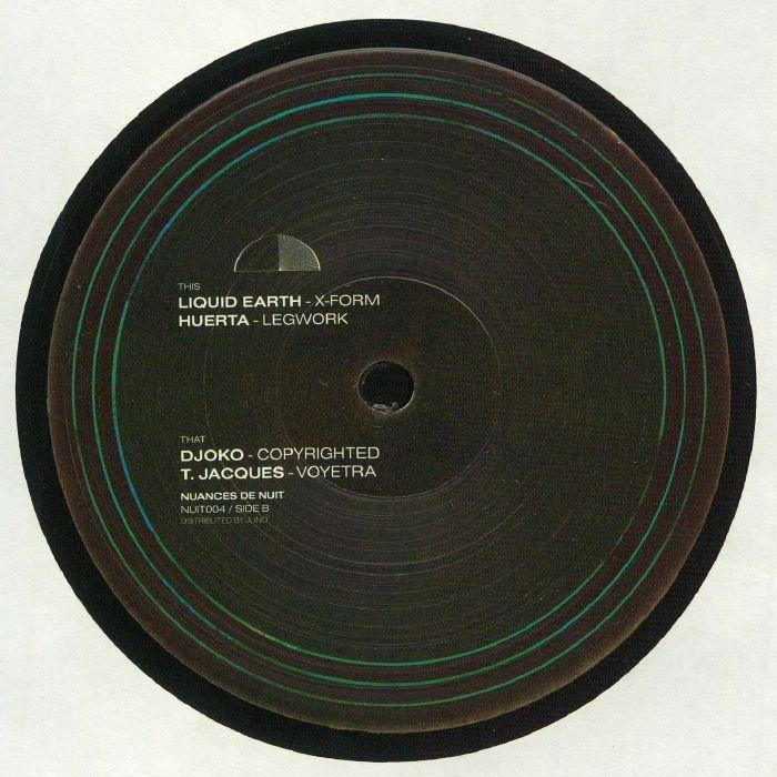 "( NUIT 004 ) LIQUID EARTH (URULU) / HUERTA / DJOKO / T JACQUES - Nuances De Nuit Vol 4 (180gr vinyl 12"") Nuances de Nuit"