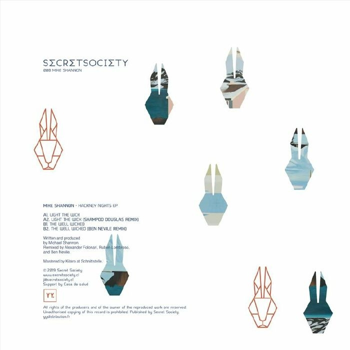 "( SCRTC 008 ) Mike SHANNON - Hackney Nights EP (12"") Secret Society Chile"