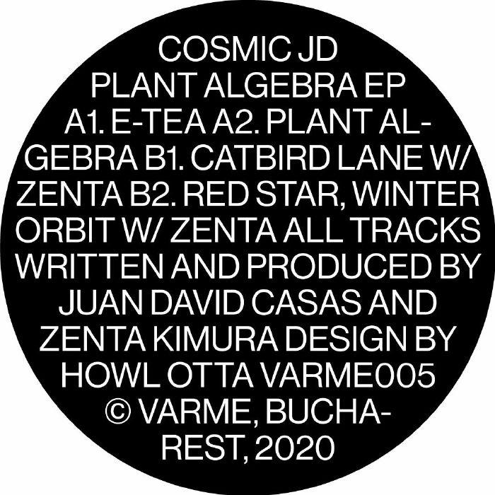 """( VARME 005 ) COSMIC JD / ZENTA - Plant Algebra EP (12"""") Varme Romania"""