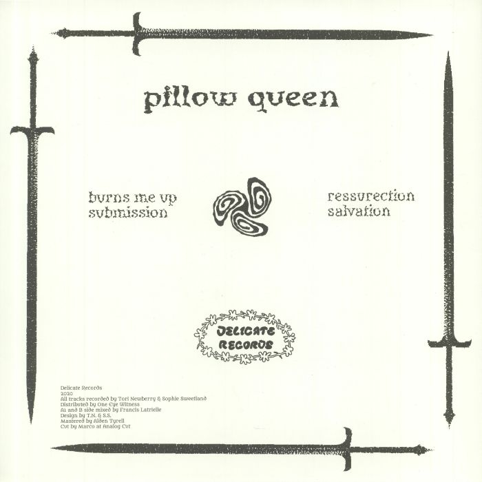 """( DR 001 ) PILLOW QUEEN - Burns Me Up (12"""") Delicate Holland"""