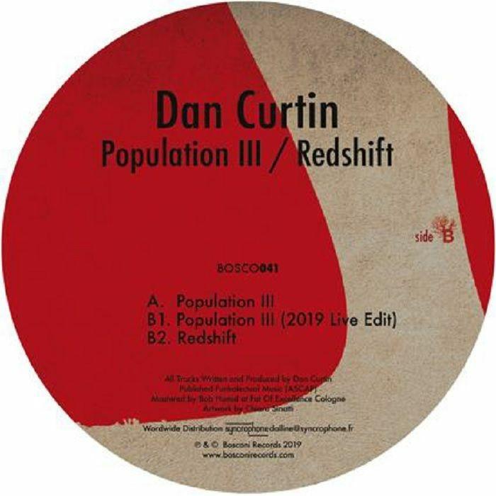 "( BOSCONI 041 ) Dan CURTIN - Population III/Redshift (12"") Bosconi Italy"