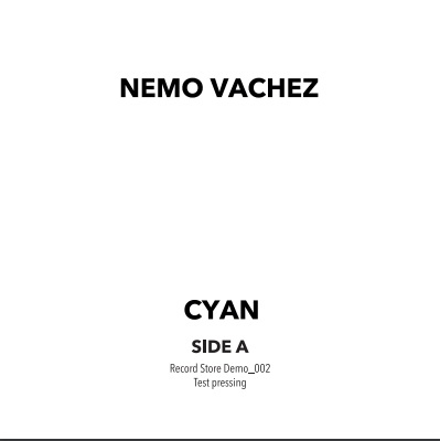 """( RSD 2020LTD ) NEMO VACHEZ / GROOVEGUY - Cyan Andromeda ep (Limited copies 12"""") Record store Demo"""