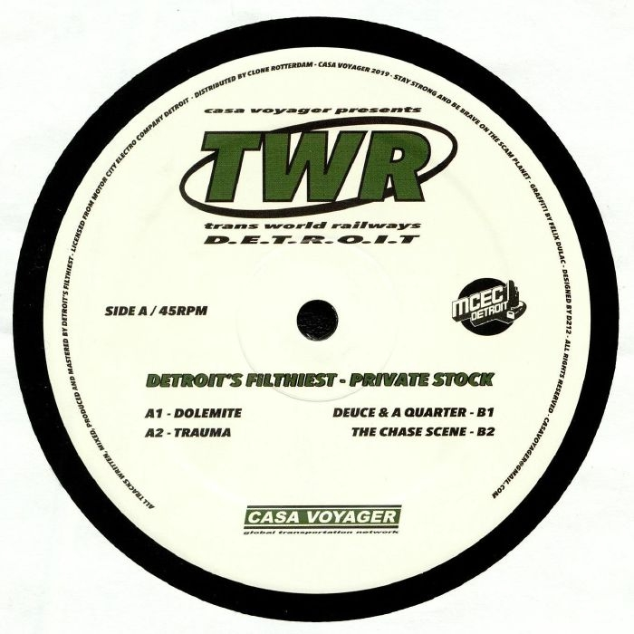 "( TWR 01 ) DETROIT'S FILTHIEST - Private Stock (12"") Casa Voyager France"