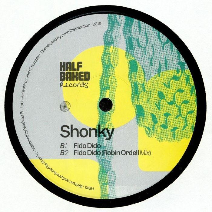 """( HB 013 ) SHONKY - HB 013 (Robin Ordell remix) (140 gram vinyl 12"""") Half Baked"""