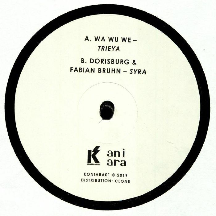 "(  KONIARA 01 ) WA WU WE / DORISBURG / FABIAN BRUHN -  Kontra vs Aniara (12"") Aniara Sweden"