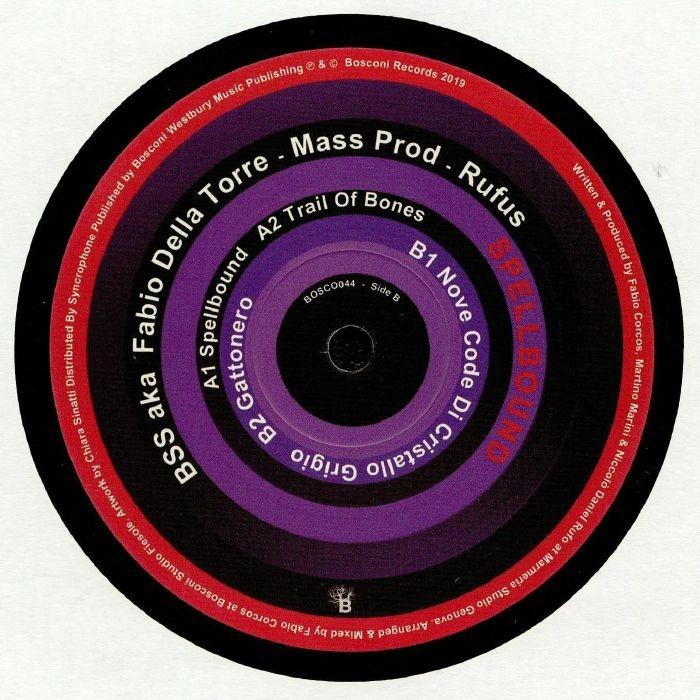 """( BOSCONI 044 ) BSS aka FABIO DELLA TORRE / MASS PROD / RUFUS - Spellbound (12"""") Bosconi Italy"""