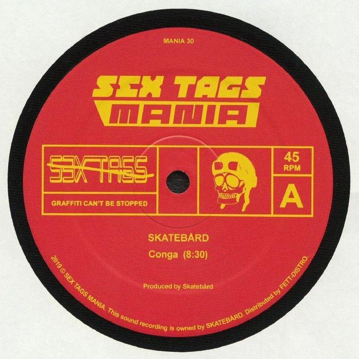 "( MANIA 30 ) SKATEBARD / CRYSTAL BOIS - Conga (12"") Sex Tags Mania Norway"