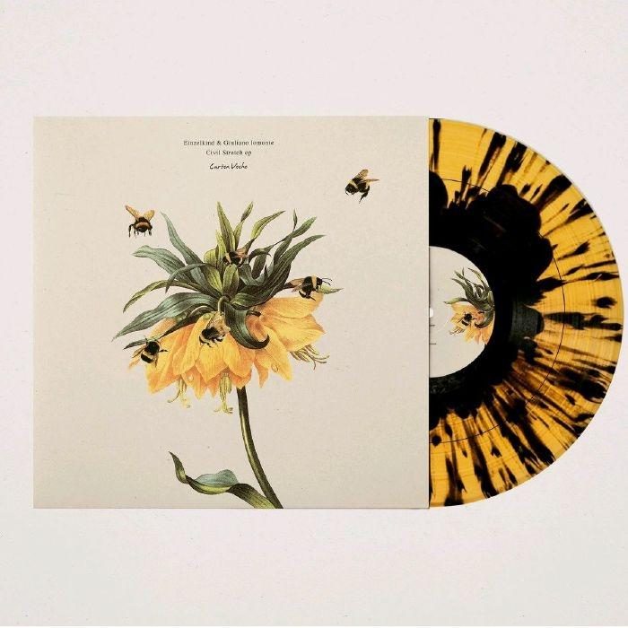 """( CV 010 ) EINZELKIND / GIULIANO LOMONTE - Civil Stretch EP (limited splattered vinyl 10"""") Curtea Veche"""