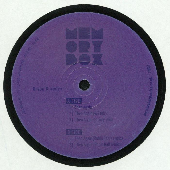 "( MB 02 ) Orson BRAMLEY - Then Again ( 140 gram vinyl 12"" ) Memory Box"