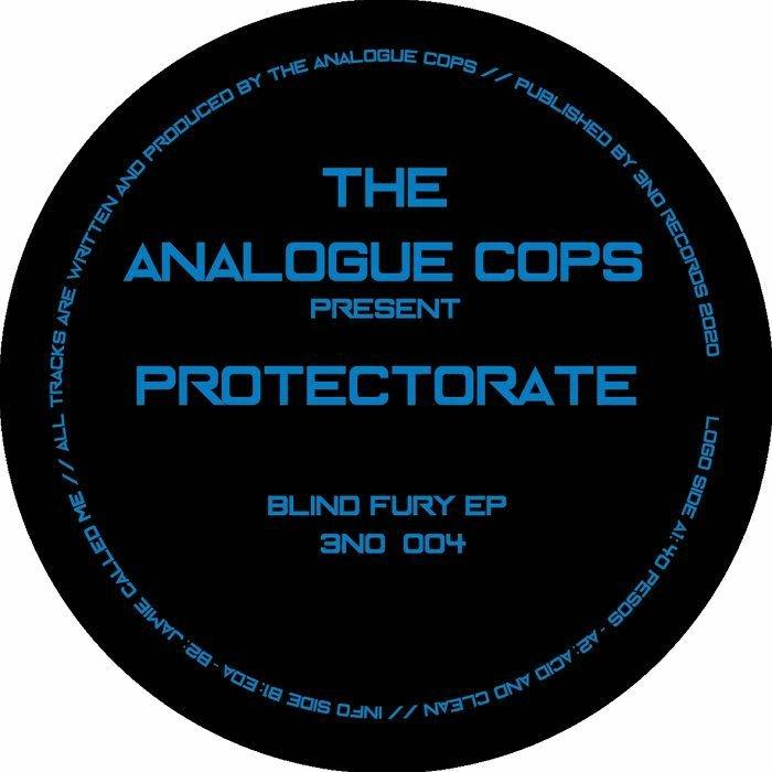 "( 3N0 004 ) The present PROTECTORATE ANALOGUE COPS - Blind Fury EP (12"") 3N0 Germany"