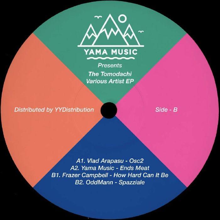"""( YAMU 006 ) Vlad ARAPASU / YAMA MUSIC / FRAZER CAMPBELL / ODDMANN - The Tomodachi Various Artist EP (12"""") Yama Music"""