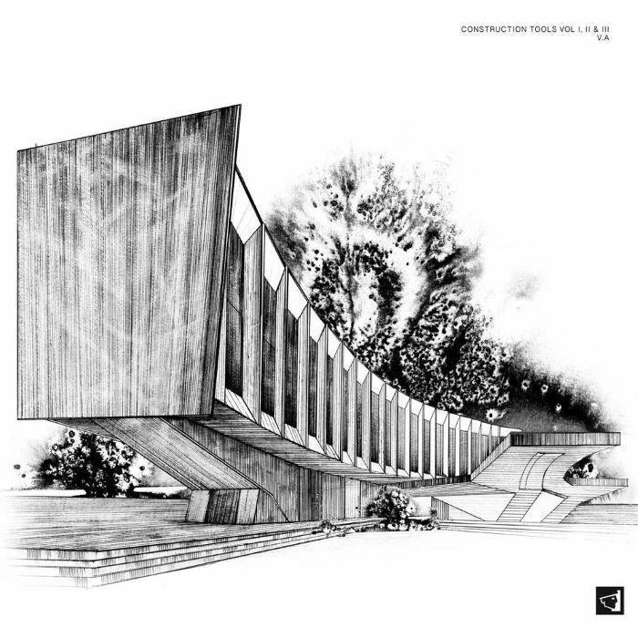 ( BERGAMON 10 )  VARIOUS - Construction Tools Vol I II & III (limited white vinyl 3xLP) (1 per customer) Berg Audio France