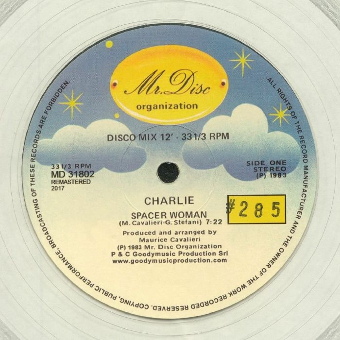 """( MD 31802 ) CHARLIE - Spacer Woman (remastered) (numbered coloured 12"""") Mr Disc Organization Italy"""