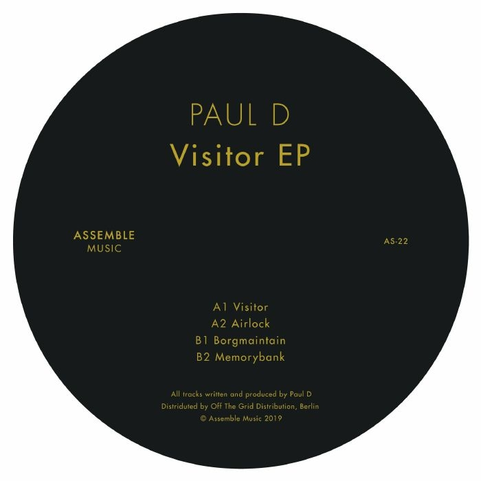 "( AS 22 )  PAUL D - Visitor EP (12"") Assemble Music Portugal"