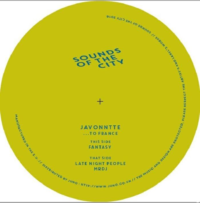 "( SOTC JG01 ) JAVONNTTE - To France ( 140 gram vinyl 12"" ) Sounds Of The City"