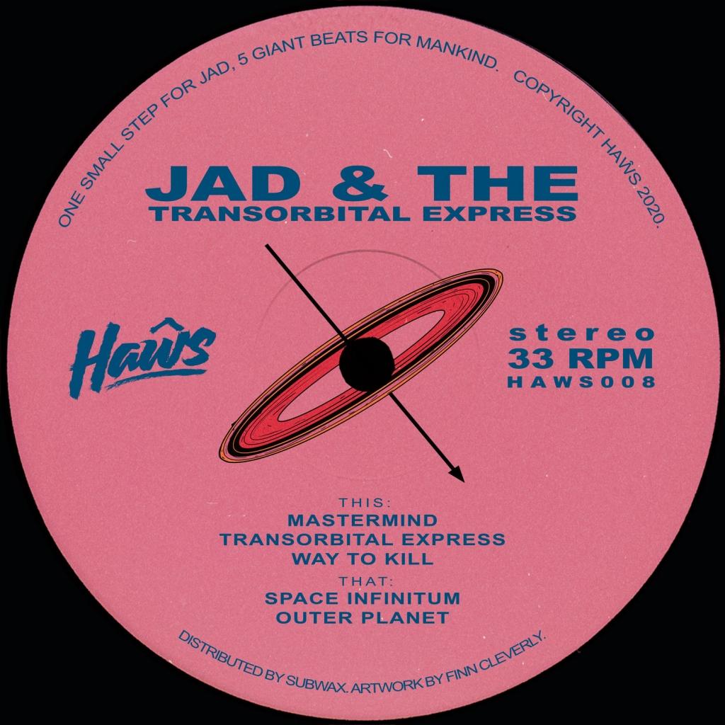 """( HAWS 008 ) JAD & THE - Transorbital Express (12"""") Haws"""