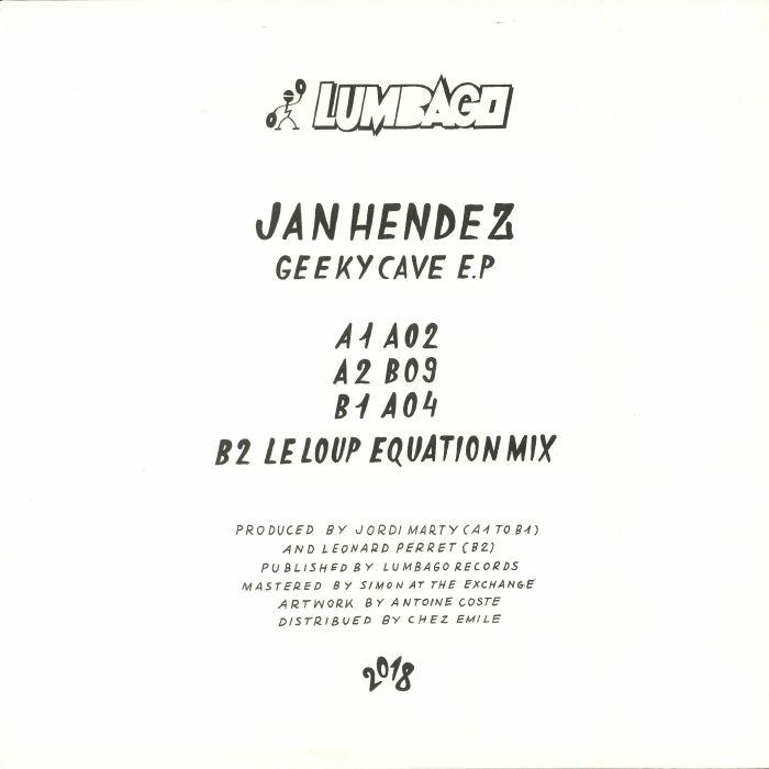"( LMBG 04 )Jan HENDEZ - Geeky Cave EP (12"") Lumbago France"