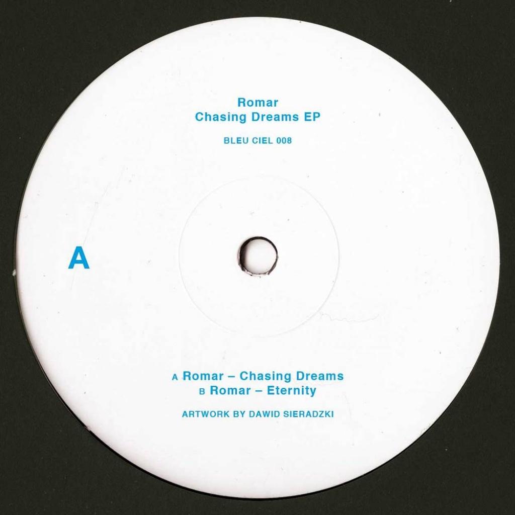 "( BLEUCIEL 008 ) ROMAR - Chasing dreams ep (180 gr white marbled vinyl only 12"") Bleu Ciel"