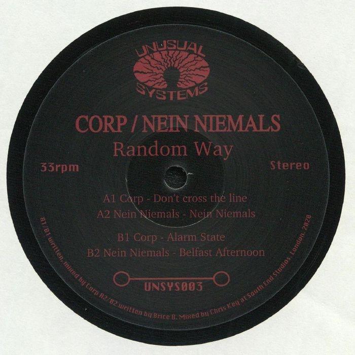 "( UNSYS 003 ) CORP / NEIN NIEMALS - Random Way (12"") Unusual Systems"