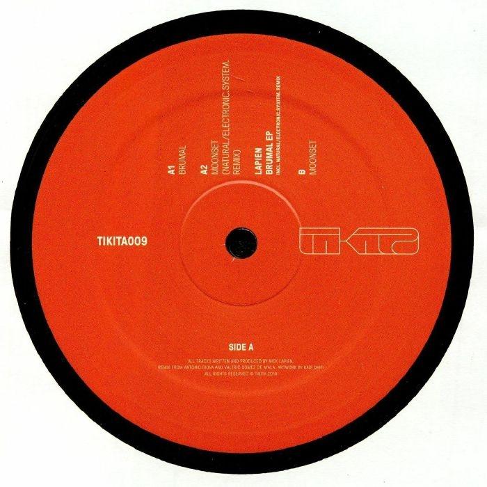 """( TIKITA 009 ) LUPIEN - Brumal EP (12"""") Tikita"""