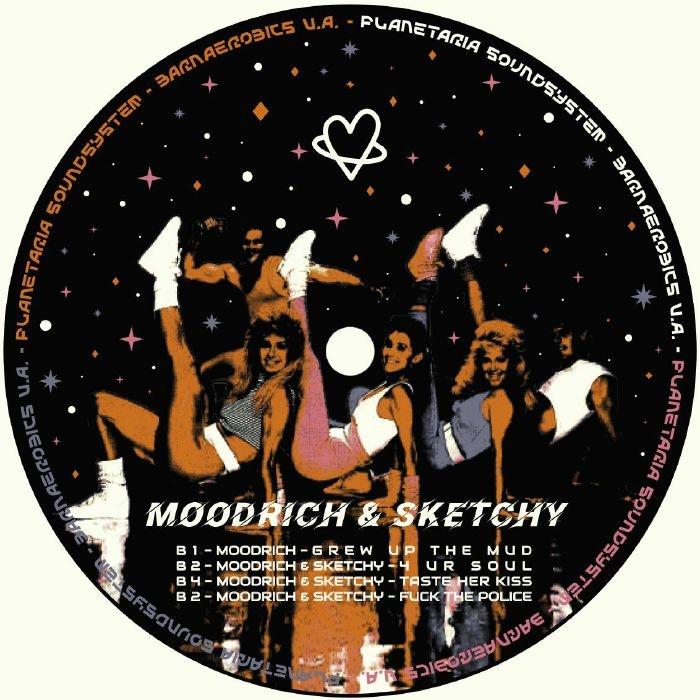 """( PR 001 ) DJ KARAWAI / MOODRICH / SKETCHY - Barnaerobics VA (180 gram vinyl 12"""") Planetaria Soundsystem"""