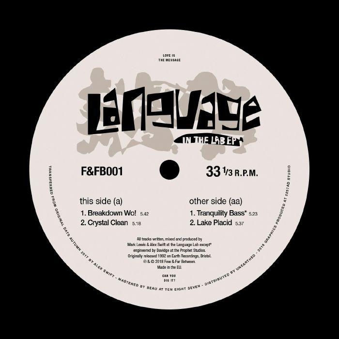 "( F&FB 001 ) LANGUAGE - In The Lab EP (12"") Few & Far Between"