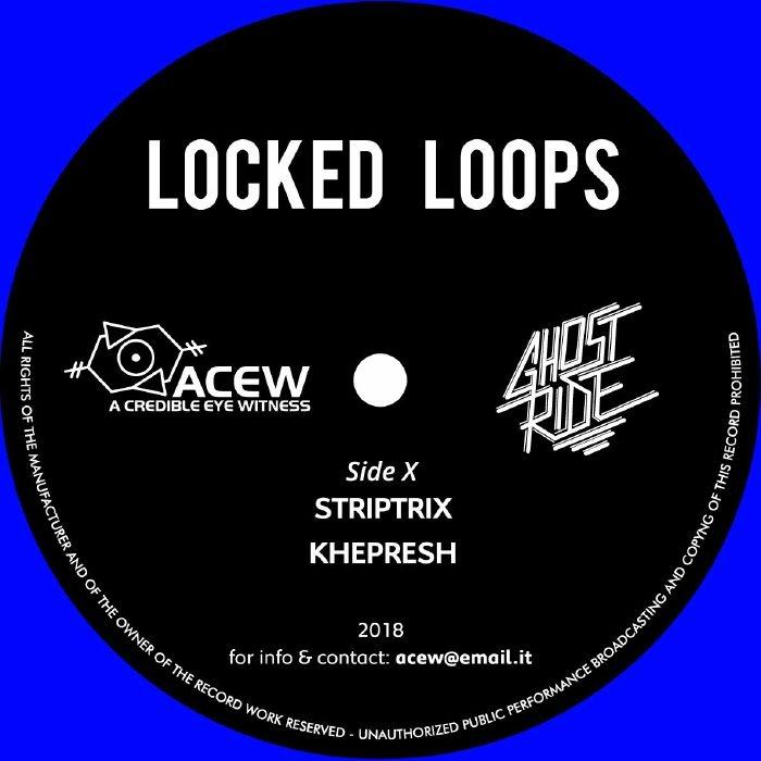 """( ACEW 009 ) A CREDIBLE EYE WITNESS & GHOST RIDE - Locked Loops (blue vinyl 12"""") ACEW Studios"""