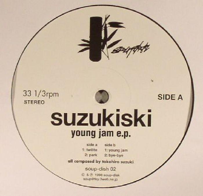 "( SOUPDISHRE 002 ) SUZUKISKI - Young Jam EP (reissue) 12"" -  Soup Disk Japan"