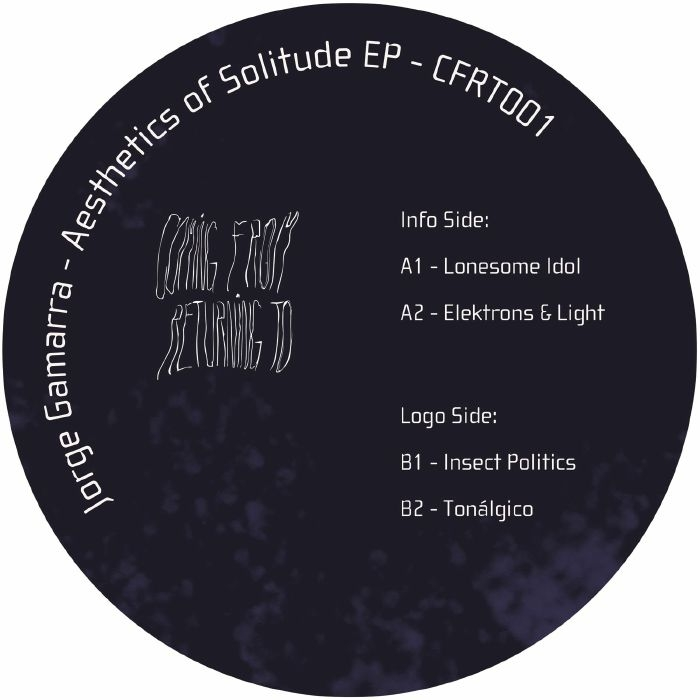 """( CFRT 001 ) Jorge GAMARRA - Aesthetics Of Solitude (12"""" limited to 300 copies) Coming From Returning To Spain"""