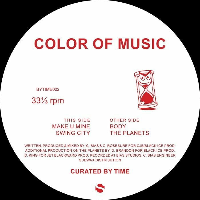"""( BYTIME 002 ) COLOR OF MUSIC - Make U Mine EP (12"""") Curated By Time Spain"""