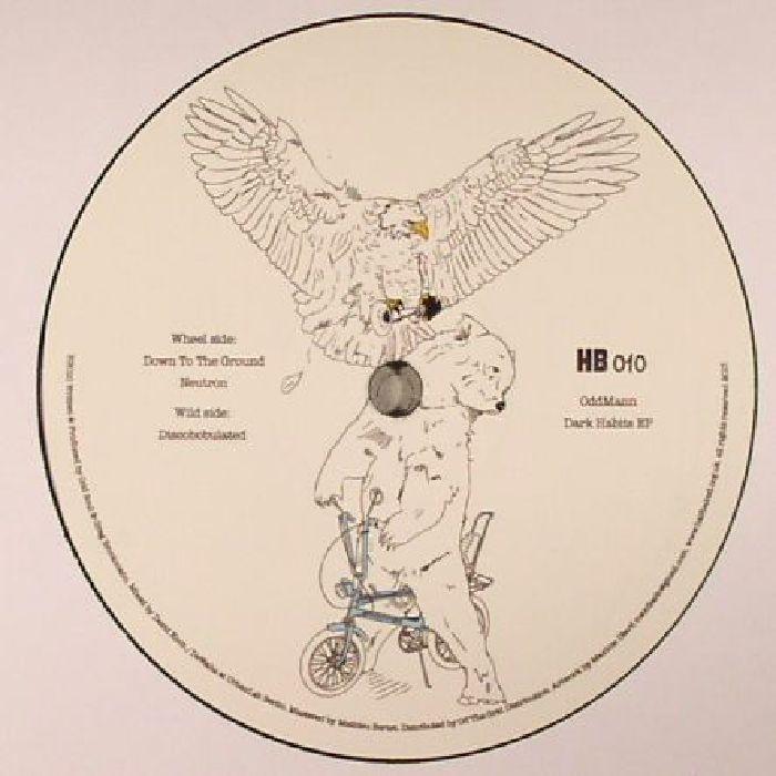 "( HB 010 )  ODDMANN - Dark Habits EP (12"") - Half Baked"