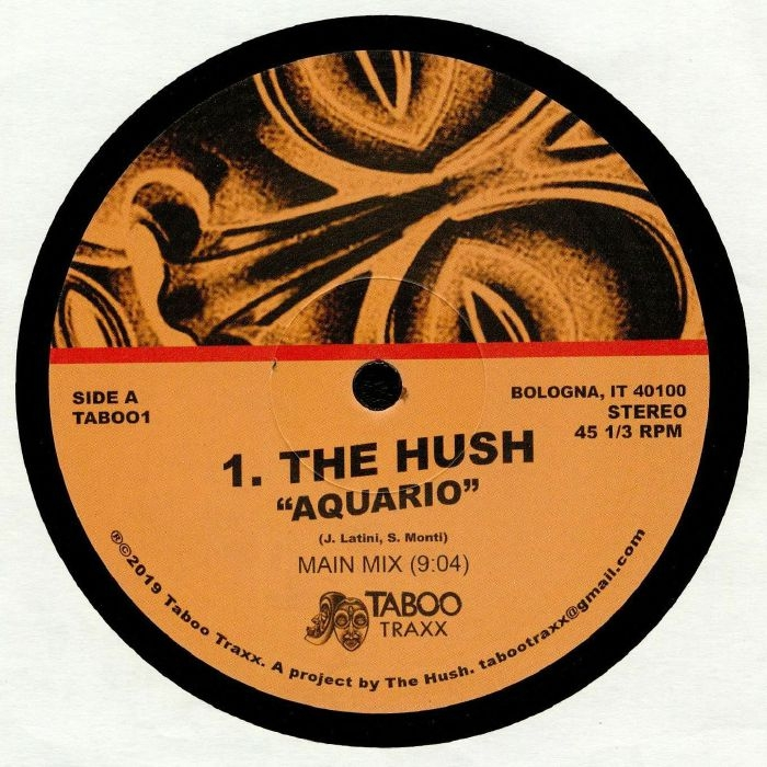 """( TAB 001 ) The HUSH / T OCEANS / JACKIE - Aquario (12"""") Taboo Traxx"""