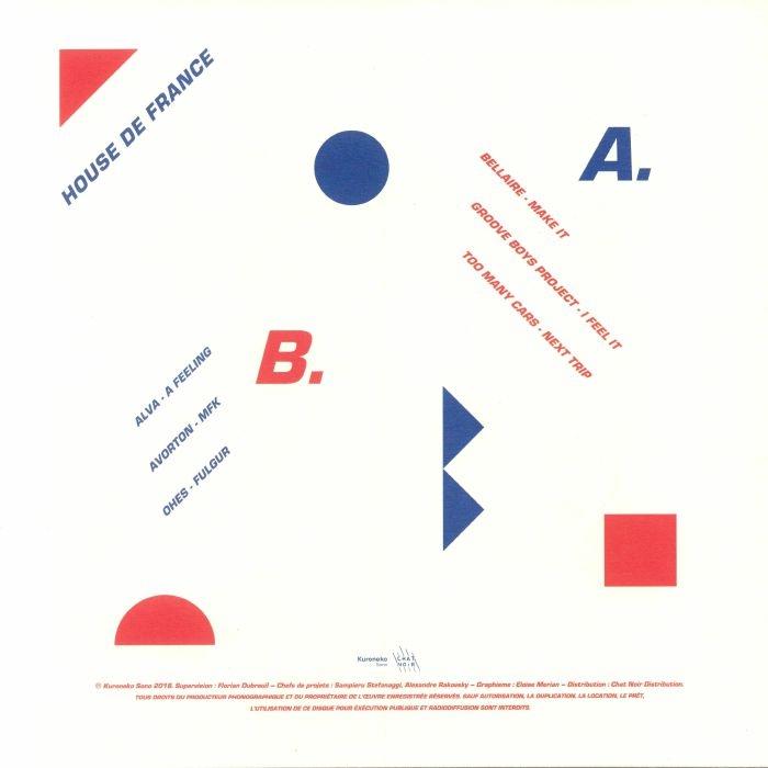 "( CNC 001 ) BELLAIRE / GROOVE BOYS PROJECT / TOO MANY CARS / ALVA / AVORTON / OHES - House De France (12"") Kuroneko Sono France"