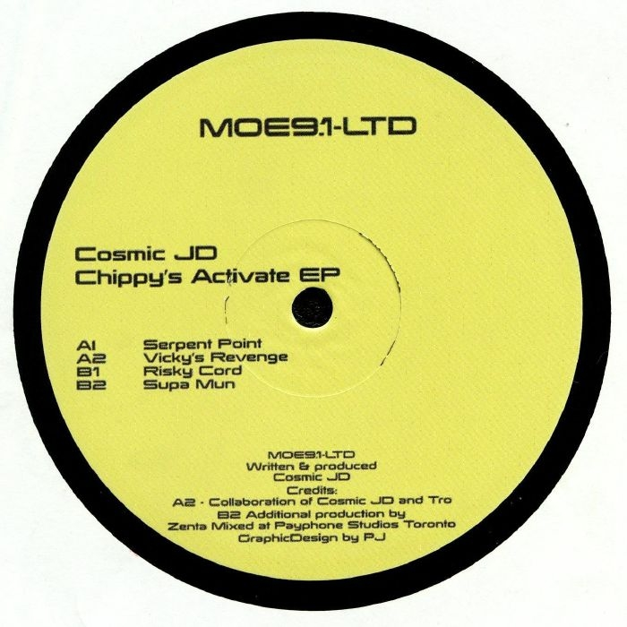 """( MOE 9.1LTD ) COSMIC JD - Chippy's Activate EP (12"""" + insert limited to 200 copies) Mode Of Expression"""