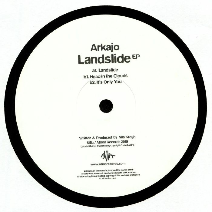 "( NILLA 014 ) ARKAJO - Landslide EP (12"") Nilla Hungary"