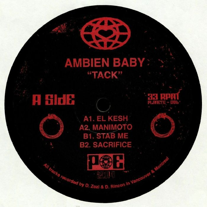 "( PE 006 ) AMBIEN BABY - Tack (heavyweight vinyl 12"") Planet Euphorique"