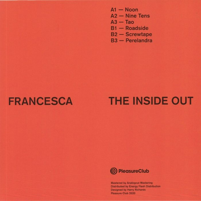 "( PCLUB 005 ) FRANCESCA - The Inside Out (12"") Pleasure Club"