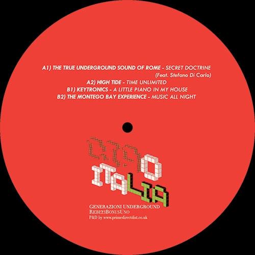 """( REB123 BONUSUNO ) V.A. - Ciao Italia Generazioni Underground Bonus Ep Uno (12"""") Rebirth"""