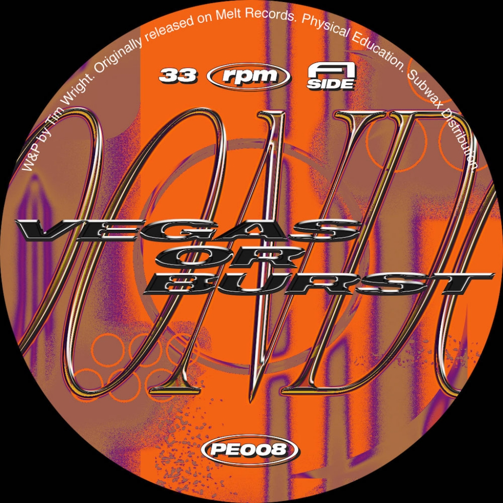 """( PE 008 ) MOONDOG - Vegas Of Burst ( 12"""" vinyl 1997 reissue ) Physical Education"""
