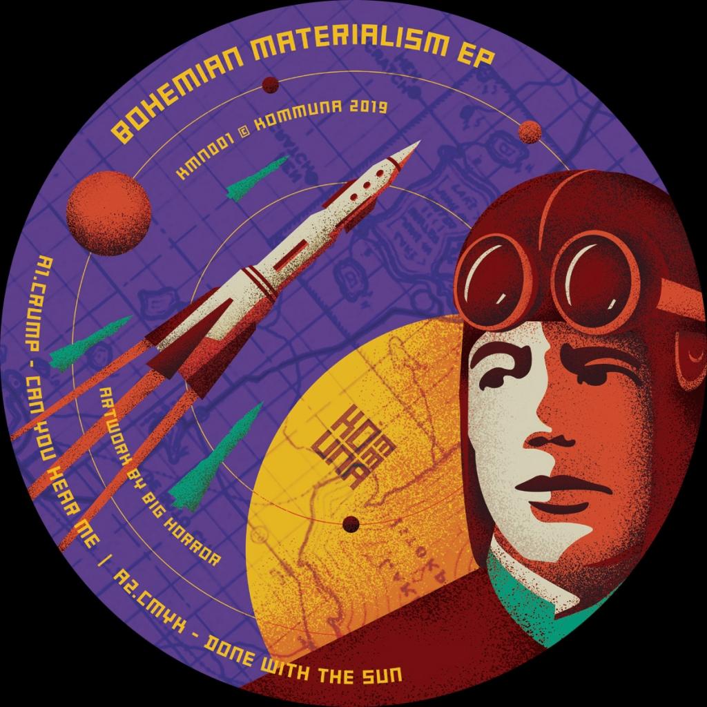 """( KMN 001 ) VARIOUS - Bohemian Materialism EP (12"""") Kommuna Tapes"""