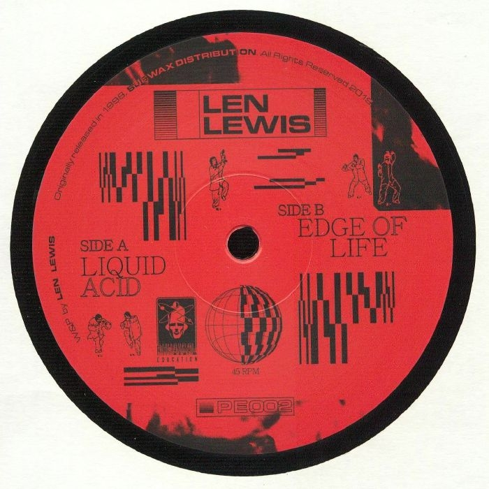 "( PE 002 ) Len LEWIS -  Liquid Acid (reissue) (12"") Physical Education"