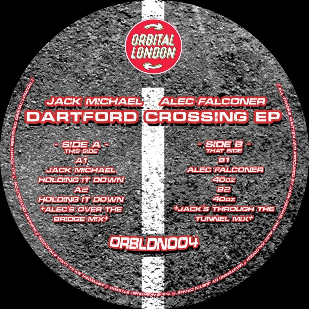 "( ORBLDN 004 ) JACK MICHEAL / ALEC FALCONER - Dartford Crossing EP (12"") Orbital London"