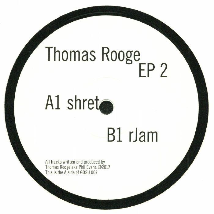 """( GOSU 007 ) Thomas ROOGE - EP 2 (180 gram vinyl 12"""") Gosu Germany"""