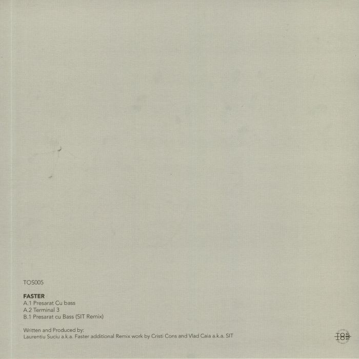 """( TOS 005 ) FASTER - Presarat Cu Bass (  12"""" ) The Other Side Germany"""