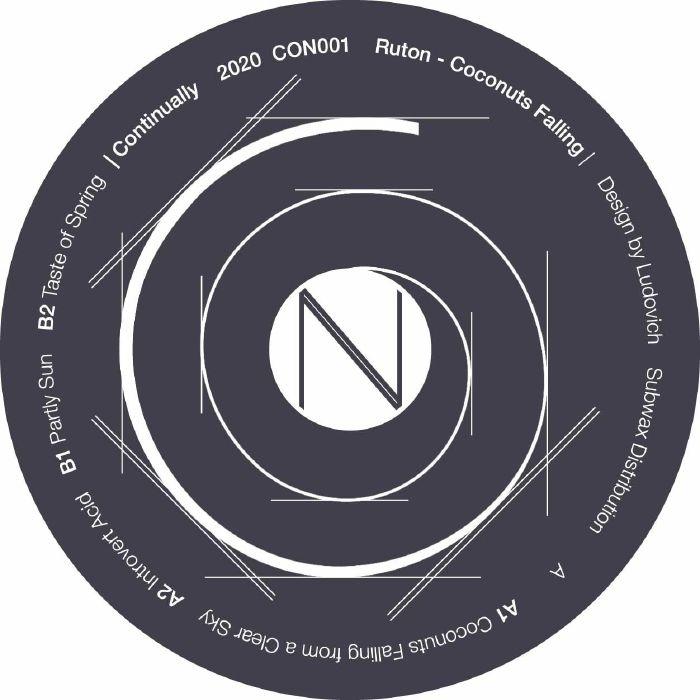 """( CON 001 ) RUTON - Coconuts Falling (12"""") Continually Norway"""