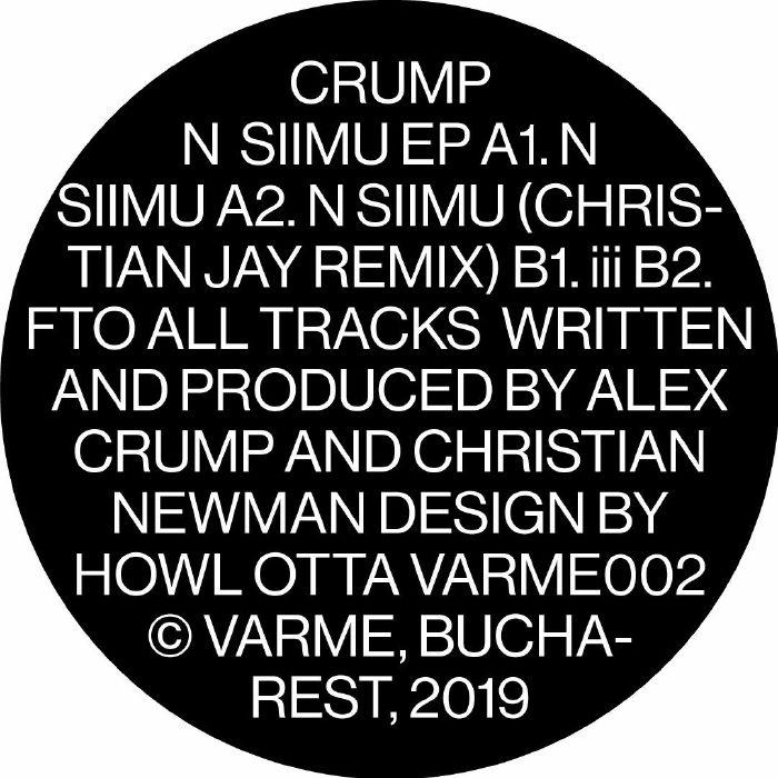 """( VARME 002 ) CRUMP - N SIIMU EP (12"""") Varme Germany"""