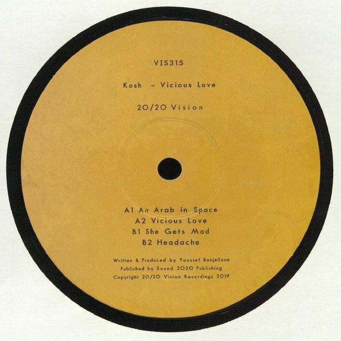 """(  VIS 315 ) KOSH - Vicious Love (140 gram vinyl 12"""") 20/20 Vision"""