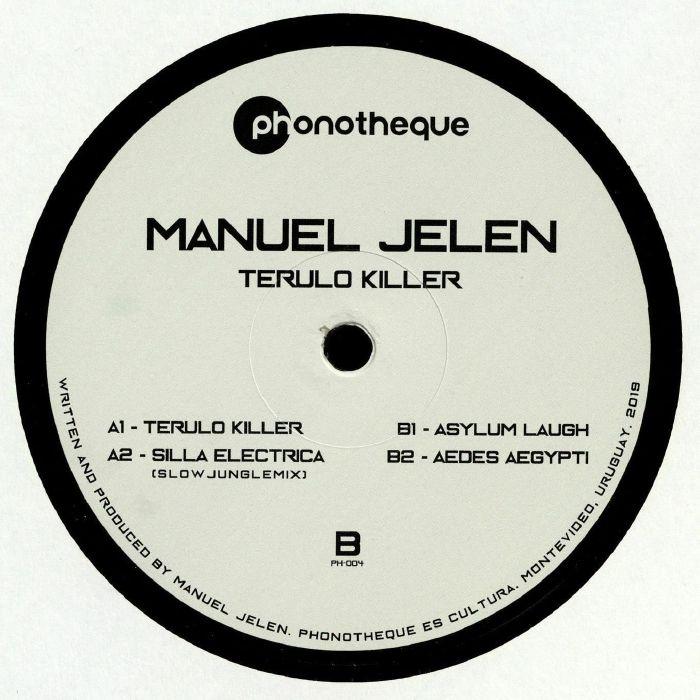 """( PH 004 ) Manuel JELEN - Terulo Killer (12"""") Phonotheque Uruguay"""