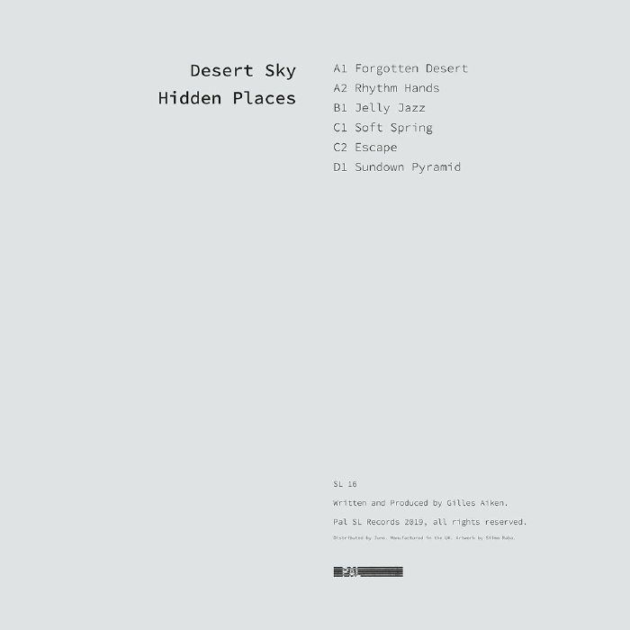 "( SL 16 ) DESERT SKY - Hidden Places (140 gram vinyl double 12"") Pal SL"